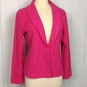 Eileen Fisher Pink Wool Single Button Blazer - M